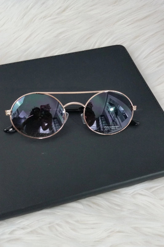 Brow Bar Round Sunglasses - Spoiled Me Rotten Boutique