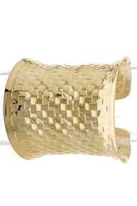 METAL BRAID PATTERN CUFF - Spoiled Me Rotten Boutique