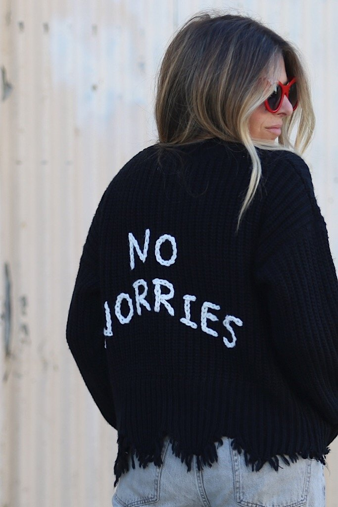 No Worries Sweater - Spoiled Me Rotten Boutique
