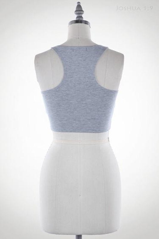 RacerBack Crop Top - Spoiled Me Rotten Boutique