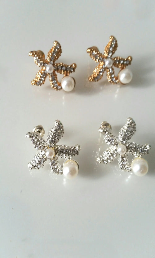 Pearl Sea Star Earrings - Spoiled Me Rotten Boutique