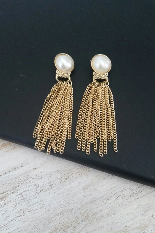 PEARL FRINGE EARRINGS - Spoiled Me Rotten Boutique