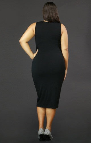 Button Midi Dress Plus Size - Spoiled Me Rotten Boutique