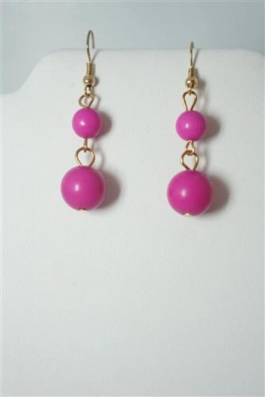 PINK BEADED STATEMENT NECKLACE SET - Spoiled Me Rotten Boutique