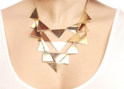 MESH TRIANGLE SHAPE NECKLACE - Spoiled Me Rotten Boutique