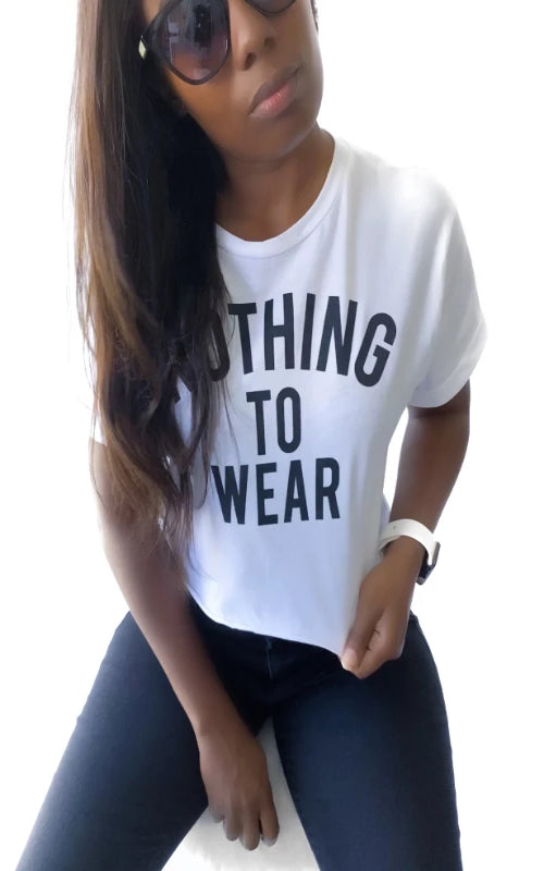Nothing To Wear Crop Top - Spoiled Me Rotten Boutique