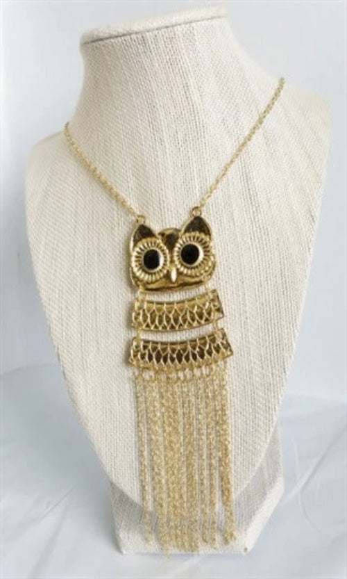 Owl Pendant Necklace - Spoiled Me Rotten Boutique