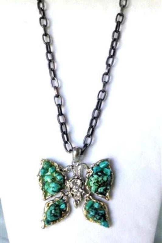 CHARMING STONE BUTTERFLY NECKLACE - Spoiled Me Rotten Boutique