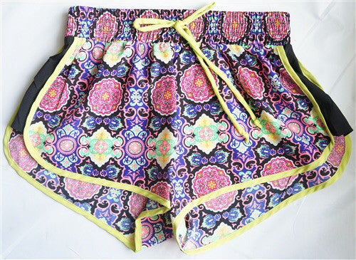 Print Drawstring Short - Spoiled Me Rotten Boutique