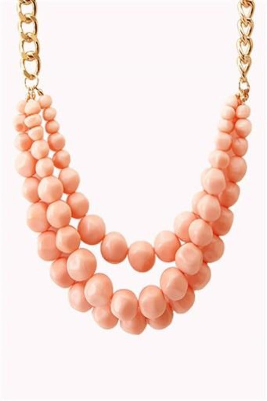 STRIKING LAYER BEAD NECKLACE - Spoiled Me Rotten Boutique