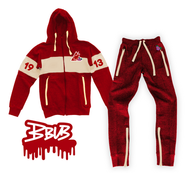 1913 JOGGING SUIT (RED AND CREAM)