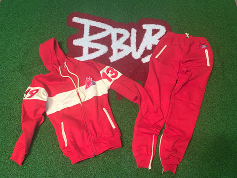 RED 1913 JOGGING SUIT