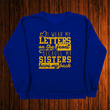 Letters on the front - Poodles Crewneck