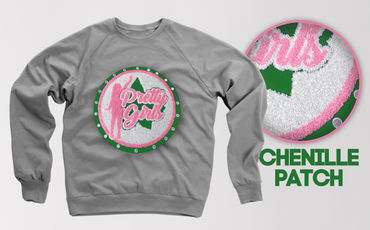 Chenille Pretty Girl Sweatshirt (several color ways)