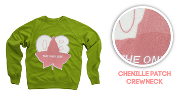 08 Only Way Chenille Sweatshirt (Lime Green or Kelly Green)