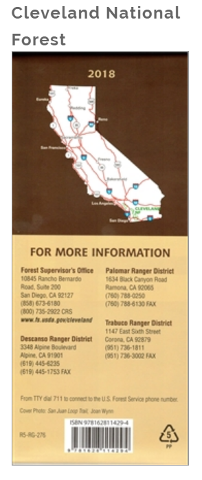 Cleveland National Forest Map – Kit Fox Outers on