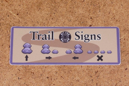 Trail Signs (Cairns) Sticker