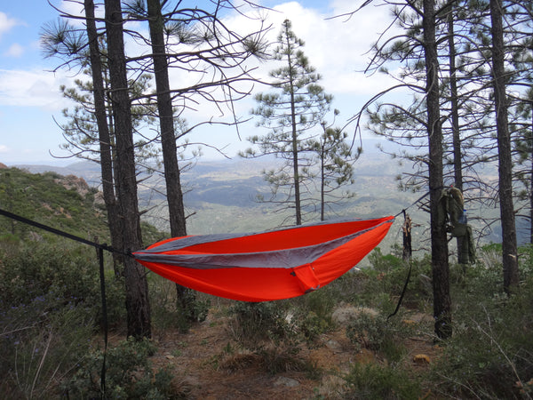 Patriot Double Hammock with Cinch Buckle Tree Straps. Made in USA!