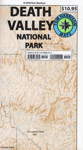 Death Valley National Park Tom Harrison Map