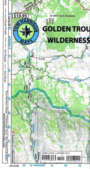 Golden Trout Wilderness Map