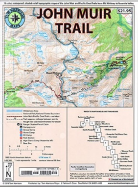 John Muir Trail Map Pack Map