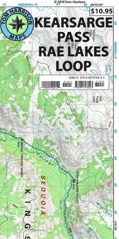 Kearsarge Pass-Rae Lakes Loop Map