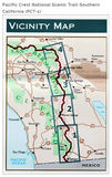 Pacific Crest National Scenic Trail-Southern California (PCT-1) Map