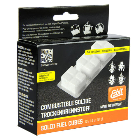 Esbit Solid Fuel Cubes, 12PC x 14G