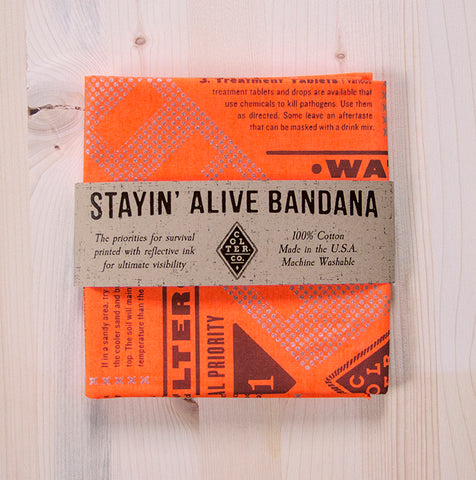 STAYIN' ALIVE REFLECTIVE SURVIVAL BANDANA