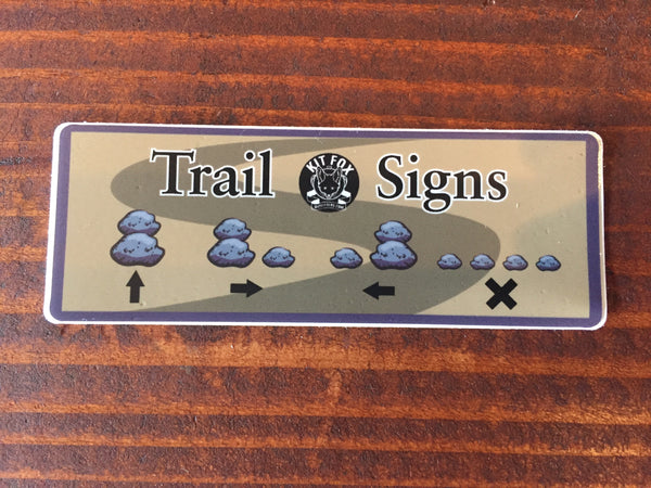 Cairns Trail Signs Sticker