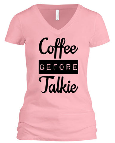 Coffee Before Talkie (V-Neck)