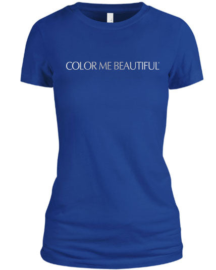 Color Me Beautiful Name Logo Royal Blue Shirt Silver Foil