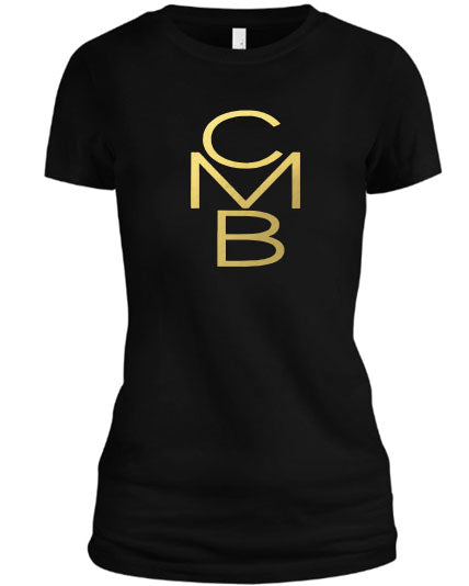 Color Me Beautiful CMB Logo Black Shirt Gold Foil