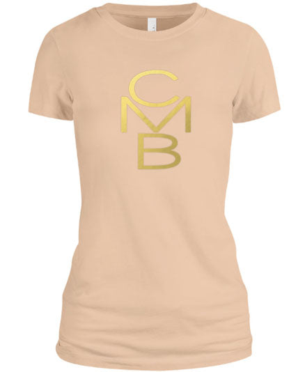 Color Me Beautiful CMB Logo Cream Shirt Gold Foil
