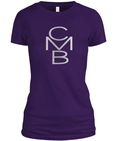 Color Me Beautiful CMB Logo Purple Shirt Silver Foil