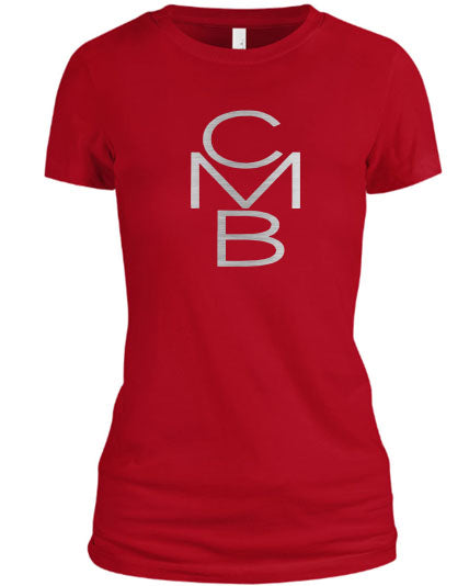 Color Me Beautiful CMB Logo Red Shirt Silver Foil