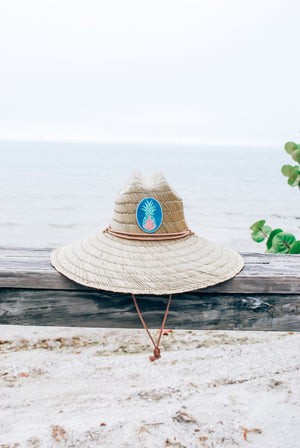 Saltwater Couture Mer-Apple Wide Brim Straw Hat