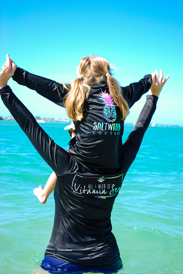 Vitamin Sea - Scoop Performance UPF Long Sleeve - Black -
