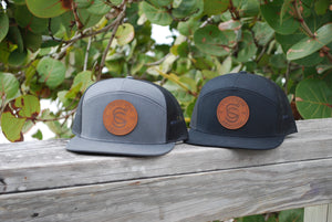 EST. 2016 Logo 7-Panel - Leather Patch - Hat