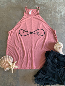 """Forever Salty"" Flowy High Neck Tank"