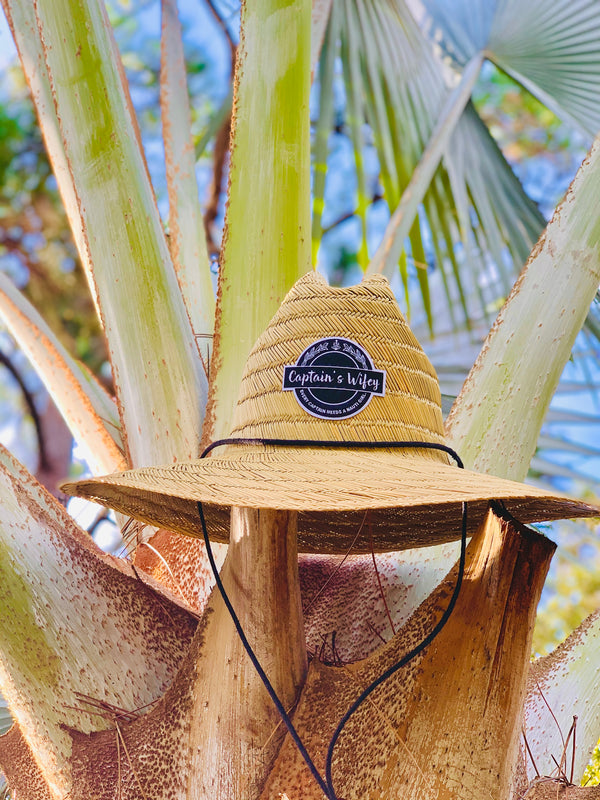 """Captain's Wifey"" Straw Hat"