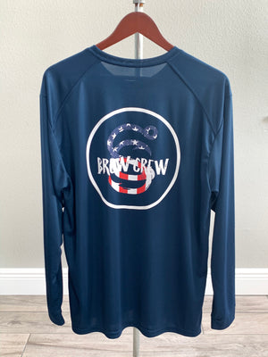 Brew Crew Flag - Men's Performance - Navy -
