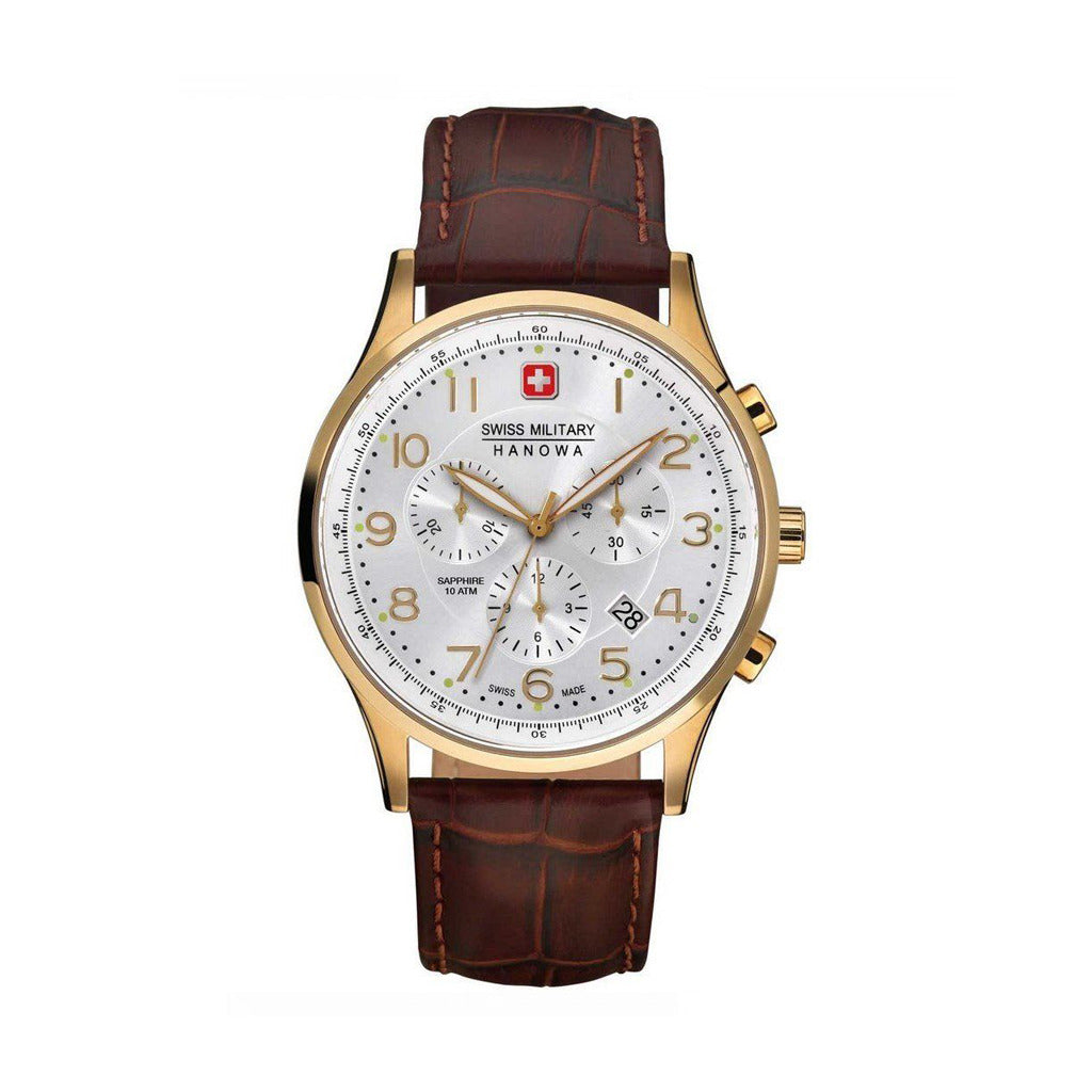 STYLIAN - Swiss Military Patriot 06-4187.02.001 Chronograph Men's Watch, Rose Gold