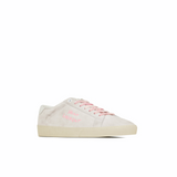 STYLIAN - Saint Laurent Court Classic SL/06 Embroidered Suede Women's Sneaker, Optic White