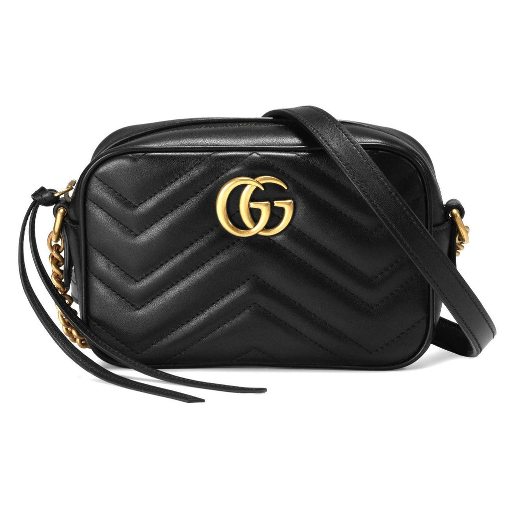 STYLIAN - Gucci 448065 DTD1T 1000 GG Marmont Matelasse Mini Crossbody Bag, Black