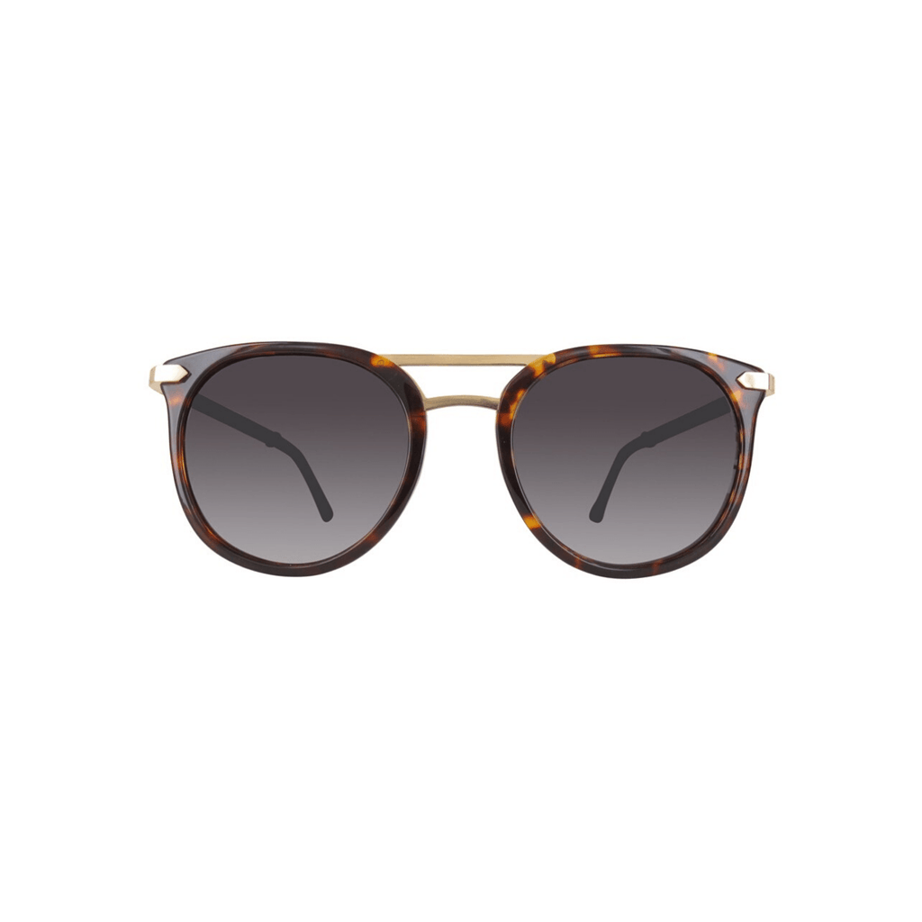 STYLIAN - Iron IRS21-PGPT/001-52 24K Gold Plated Limited Edition Women's Sunglasses, Dark Tortoise