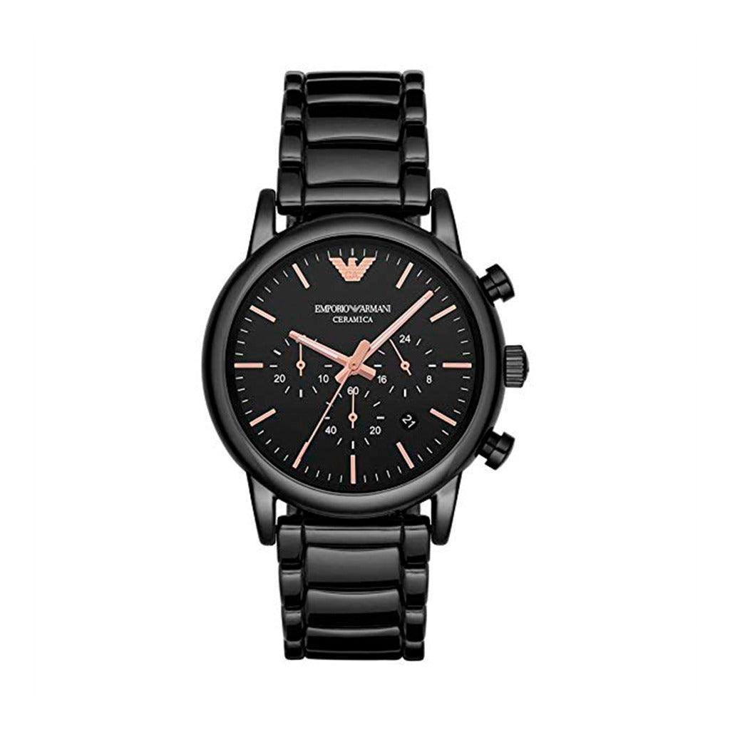 STYLIAN - Emporio Armani AR1509 Ceramic Chronograph Men's Watch, Black