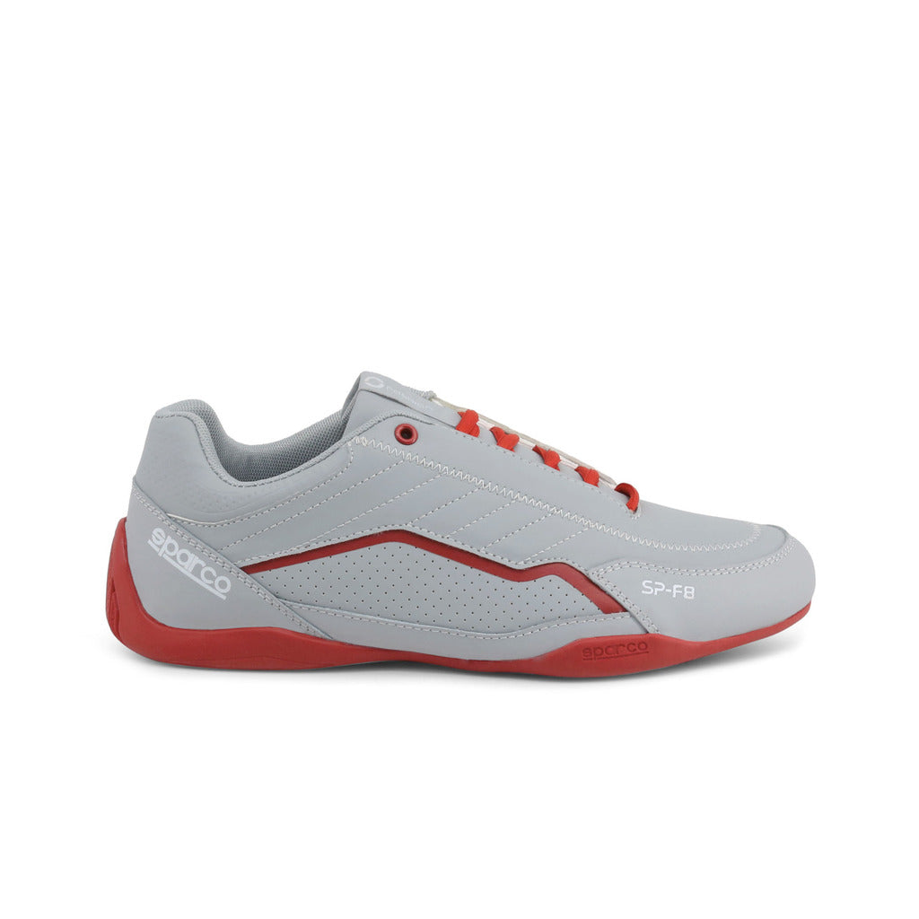 Sparco SP-F8 Men's Sneaker, Silver & Red