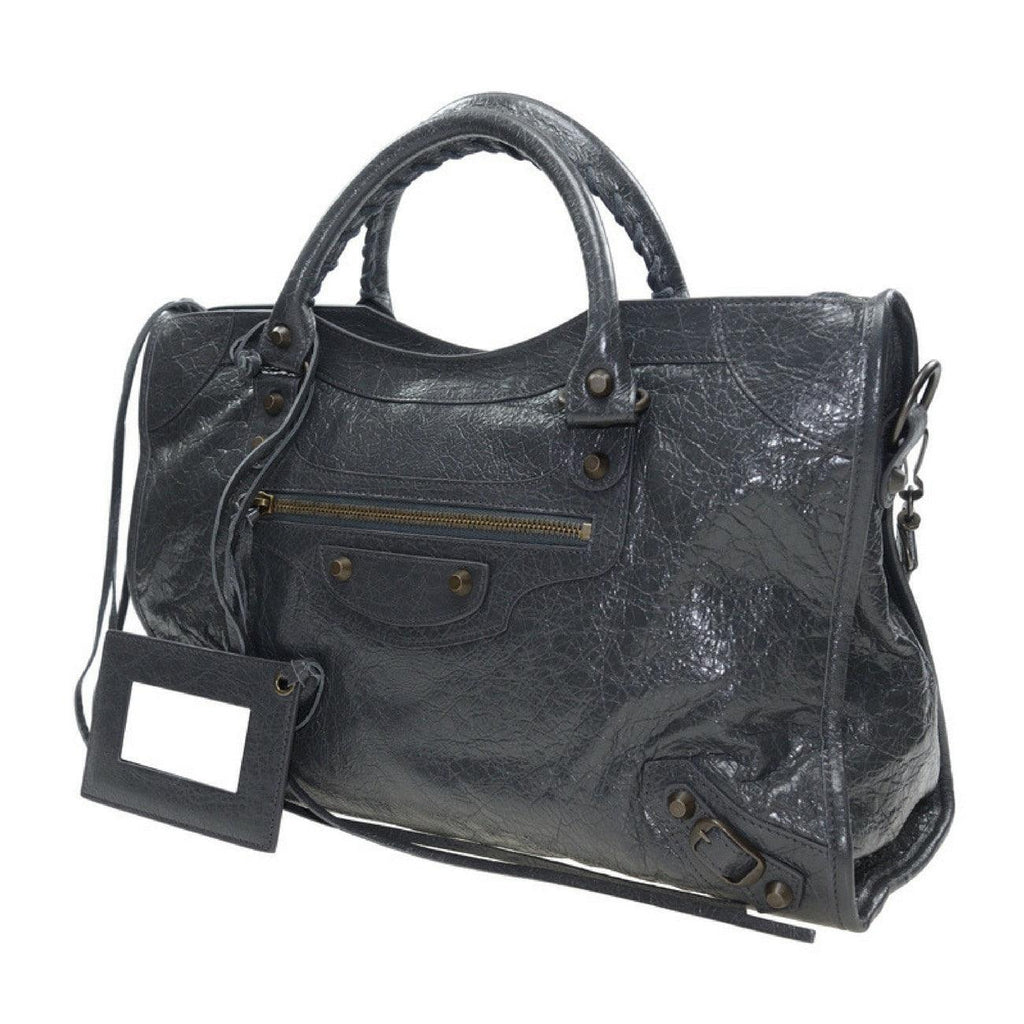 Balenciaga 115748 D94JT 1160 Classic City Tote, Gris Fossile - STYLIAN
