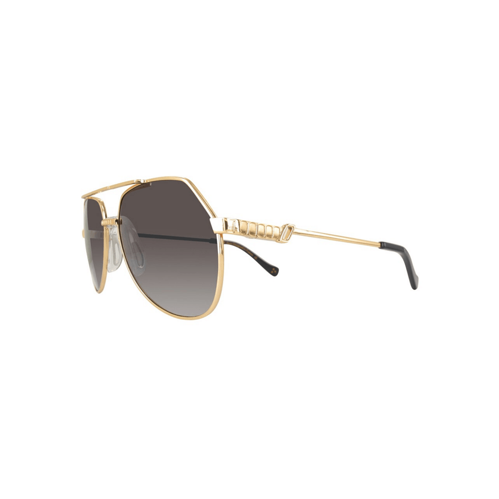 STYLIAN - Iron IRS26-GLDSI/001-55 24K Gold Plated Limited Edition Aviator Men's Sunglasses, Gold